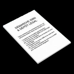 Démarches ISBN & dépôt légal