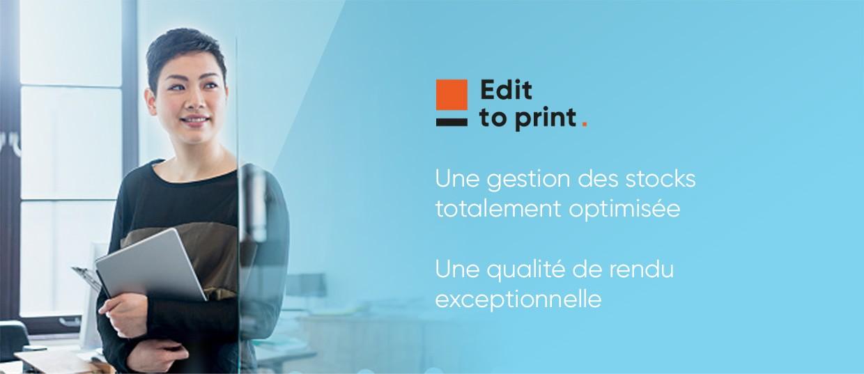 Editoprint - Gestion des stocks optimisée et qualité de rendu exceptionnelle